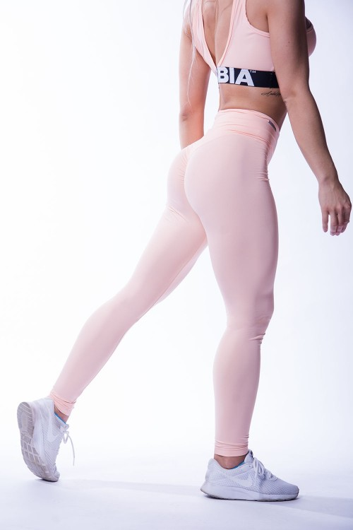 Nebbia -  High Waist Scrunch Butt Leggings 604 Salmon