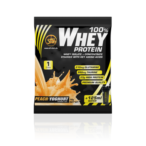 All Stars - 100% Whey Protein, Musterbeutel 15g