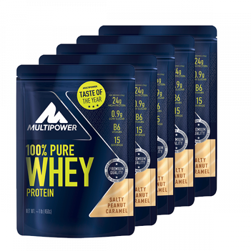 5 x Multipower - 100% Pure Whey Protein, 510g Beutel