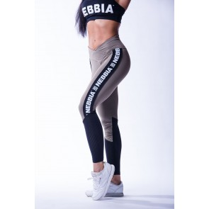 Nebbia -  High Waist Mesh Leggings 601 Mocha