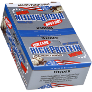 Weider - 40% Low Carb High Protein Bar, 25 Riegel a 50g